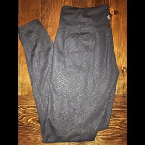 Athleta black, animal print leggings, size medium